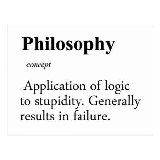 Philosophy Definition Postcard