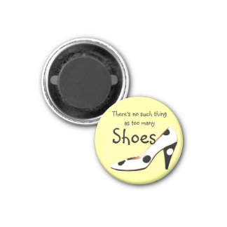 Philosophy for Girls Who Love Shoes 3 Cm Round Magnet