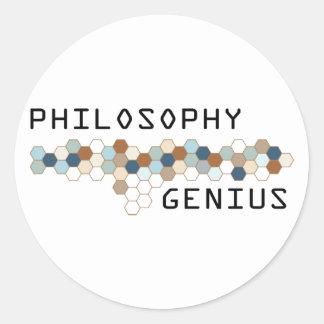 Philosophy Genius Classic Round Sticker