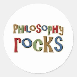 Philosophy Rocks Classic Round Sticker