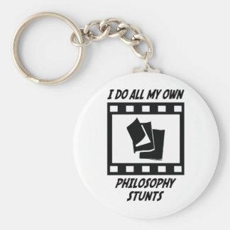 Philosophy Stunts Basic Round Button Key Ring