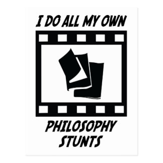 Philosophy Stunts Postcard