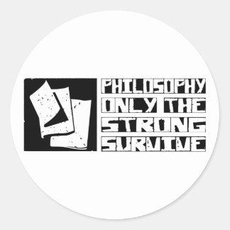 Philosophy Survive Classic Round Sticker