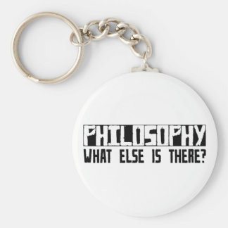 Philosophy What Else Is There? Basic Round Button Key Ring