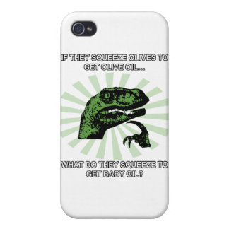Philosoraptor Baby Oil Case For The iPhone 4
