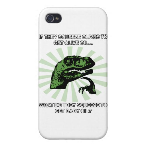 Philosoraptor Baby Oil iPhone 4/4S Covers
