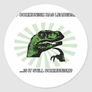 Philosoraptor Communism Round Sticker