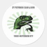 Philosoraptor Physics Round Sticker