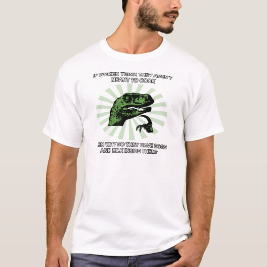 Philosoraptor Women Cooking T-Shirt