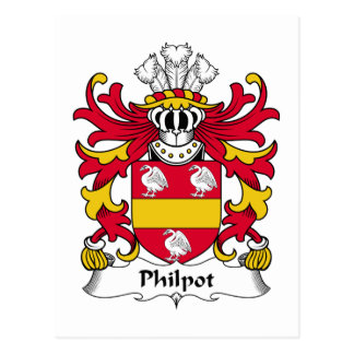 Philpot Family Crest Postcard