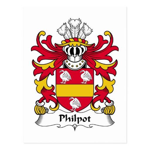 Philpot Family Crest Post Cards