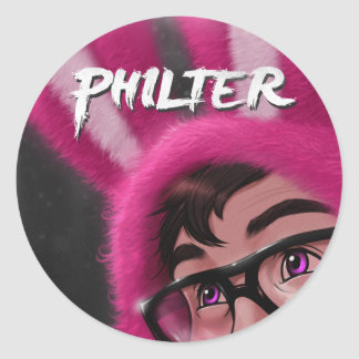 """""""Philter"""" 6 large stickers"""
