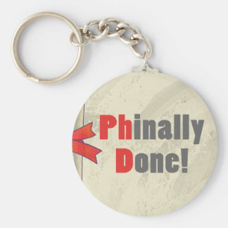 Phinally Done Scroll Key Ring
