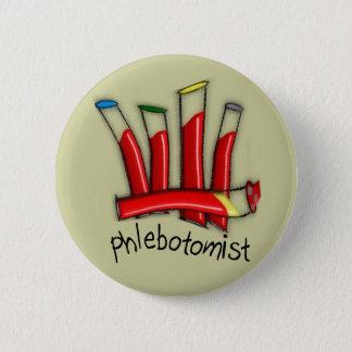 Phlebotomist Artsy Blood Tubes Design Gifts 6 Cm Round Badge