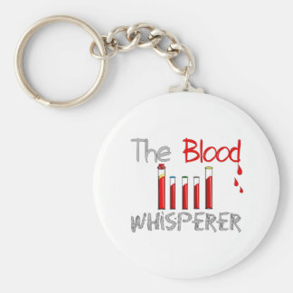 "Phlebotomist Gifts ""The Blood Whisperer"" Basic Round Button Key Ring"