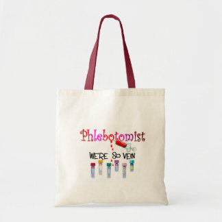 Phlebotomist gifts tote bag