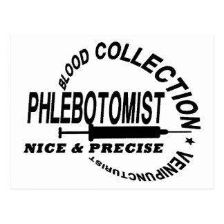 PHLEBOTOMIST - NICE AND PRECISE - POSTCARD