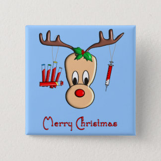 Phlebotomist Reindeer Christmas Gifts 15 Cm Square Badge