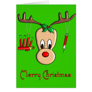 Phlebotomist Reindeer Christmas Gifts Greeting Card