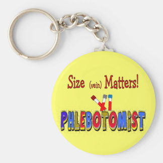 Phlebotomist Size (Vein)  Matters Basic Round Button Key Ring