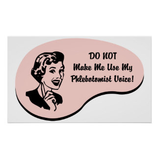 Phlebotomist Voice Poster