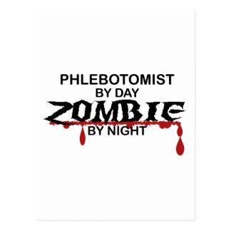 Phlebotomist Zombie Postcard