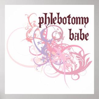 Phlebotomy Babe Poster