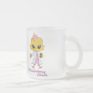 Phlebotomy Chick 10 oz Frosted Glass Coffee Mug Coffee Mugs