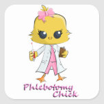 Phlebotomy Chick Square Sticker