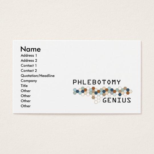 Phlebotomy Genius Business Card