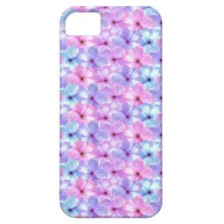 Phlox Pastel Lavender & Aqua Blue Flowers case