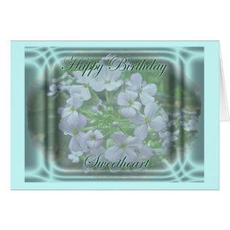 Phlox Sweetheart Birthday Card