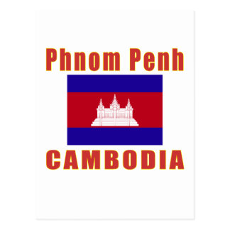 Phnom Penh Cambodia capital designs Postcard