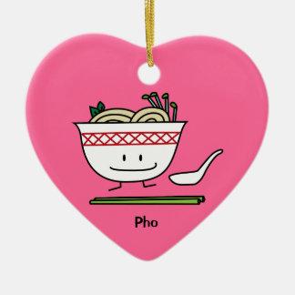 Pho Noodle Bowl Vietnam soup spoon chopsticks Christmas Ornament