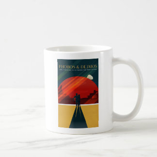 Phobos and Deimos Martian Moons Tourism Coffee Mug