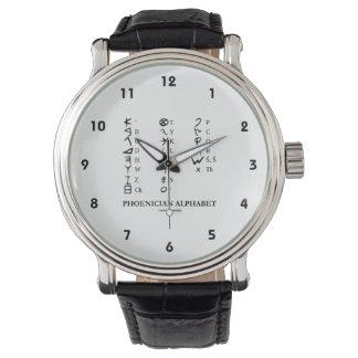 Phoenician Alphabet Ancient Language Symbols Wrist Watch