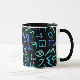 Phoenician alphabet mug