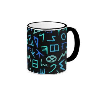 Phoenician alphabet ringer mug