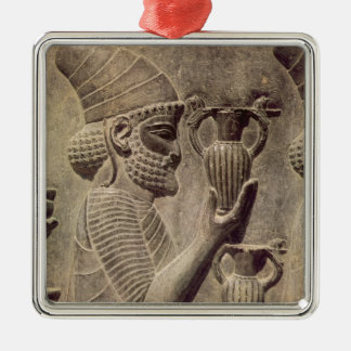 Phoenician carrying two offering, detail relief christmas ornament