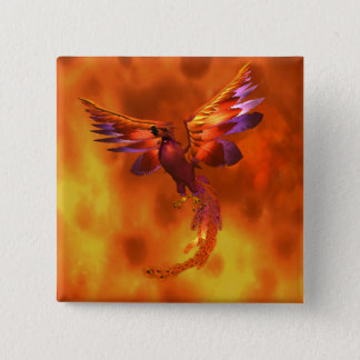 Phoenix 15 Cm Square Badge