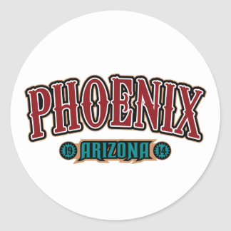 Phoenix 1914 classic round sticker