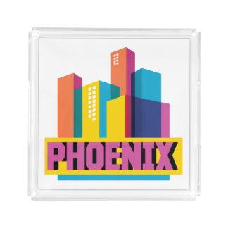 Phoenix, Arizona | Neon Skyline Acrylic Tray