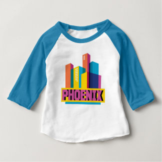 Phoenix, Arizona | Neon Skyline Baby T-Shirt