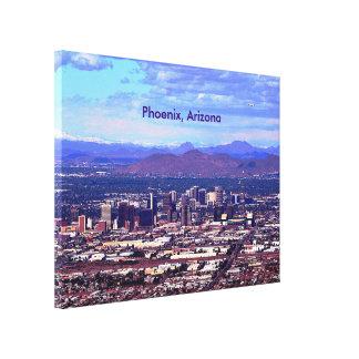Phoenix, Arizona Skycape in Daytime Canvas Prints