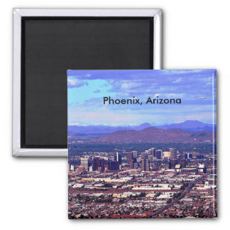 Phoenix, Arizona Skycape in Daytime Magnet