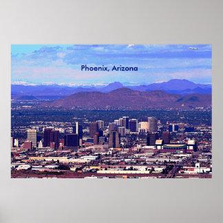 Phoenix, Arizona Skycape in Daytime Print