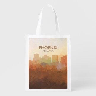 Phoenix, Arizona Skyline IN CLOUDS Reusable Grocery Bag