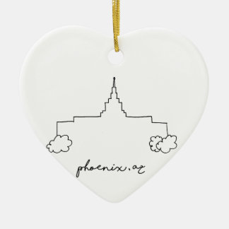phoenix arizona temple simple modern sketch christmas ornament