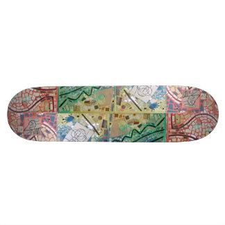Phoenix Art Patchwork Mosaic Skate Board