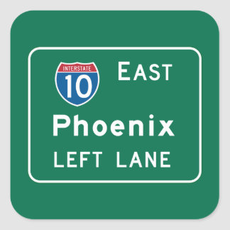 Phoenix, AZ Road Sign Square Sticker